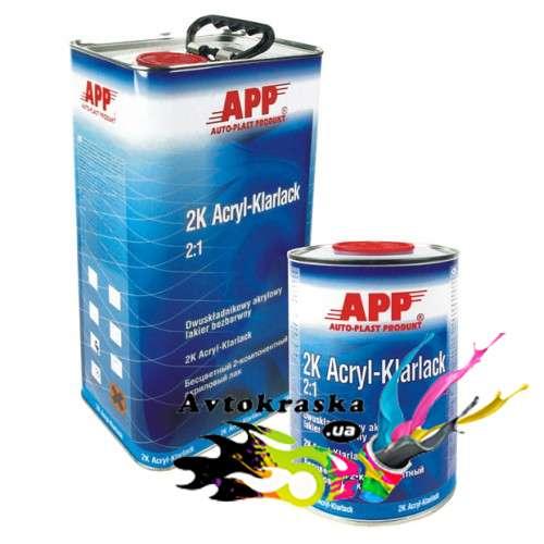 App 020101 Лак акриловый бесцветный 1л+0,5л - 020101