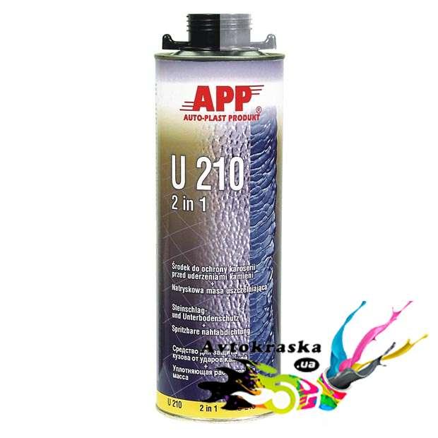 App 050110 Антигравийное средство и жидкий герметик U210 черный