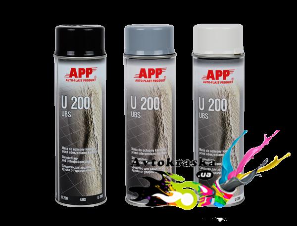 APP 050204 Средство для защиты кузова U200 в аэрозоле Baranek черный