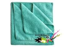 App 080648 Салфетка беспыльная из микрофибры 40см х 40см зеленая 3шт