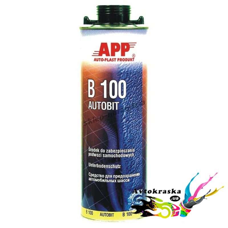 APP Autobit B100 050601 антикоррозийное покрытие для днища черное 1л