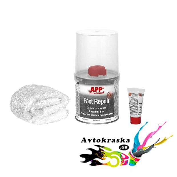 Комплект ремонтный для пластика App 010702 (смола + стекловолокно)