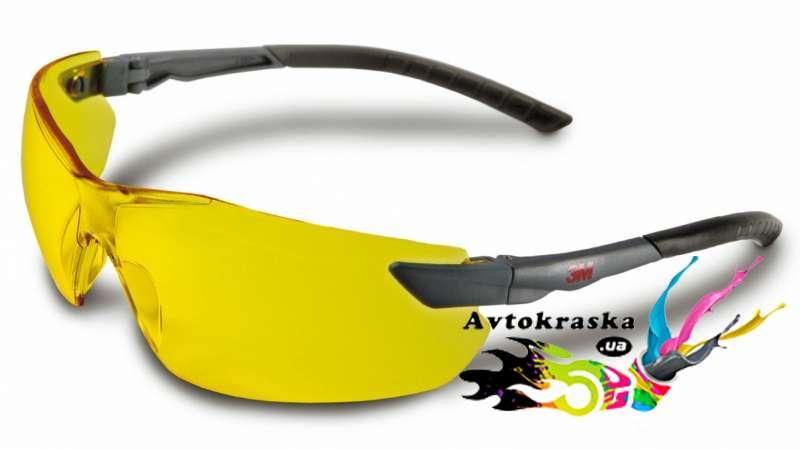 3М 2822 Улучшенные защитные очки желтые