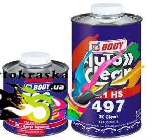 Лак Body 497 HS акриловый 1л+0,5л