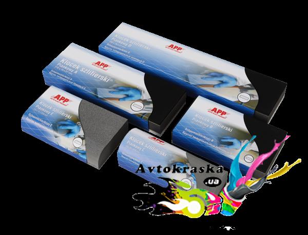 App шлифовальный брусок 150207 пенный / E 135*75 / R20