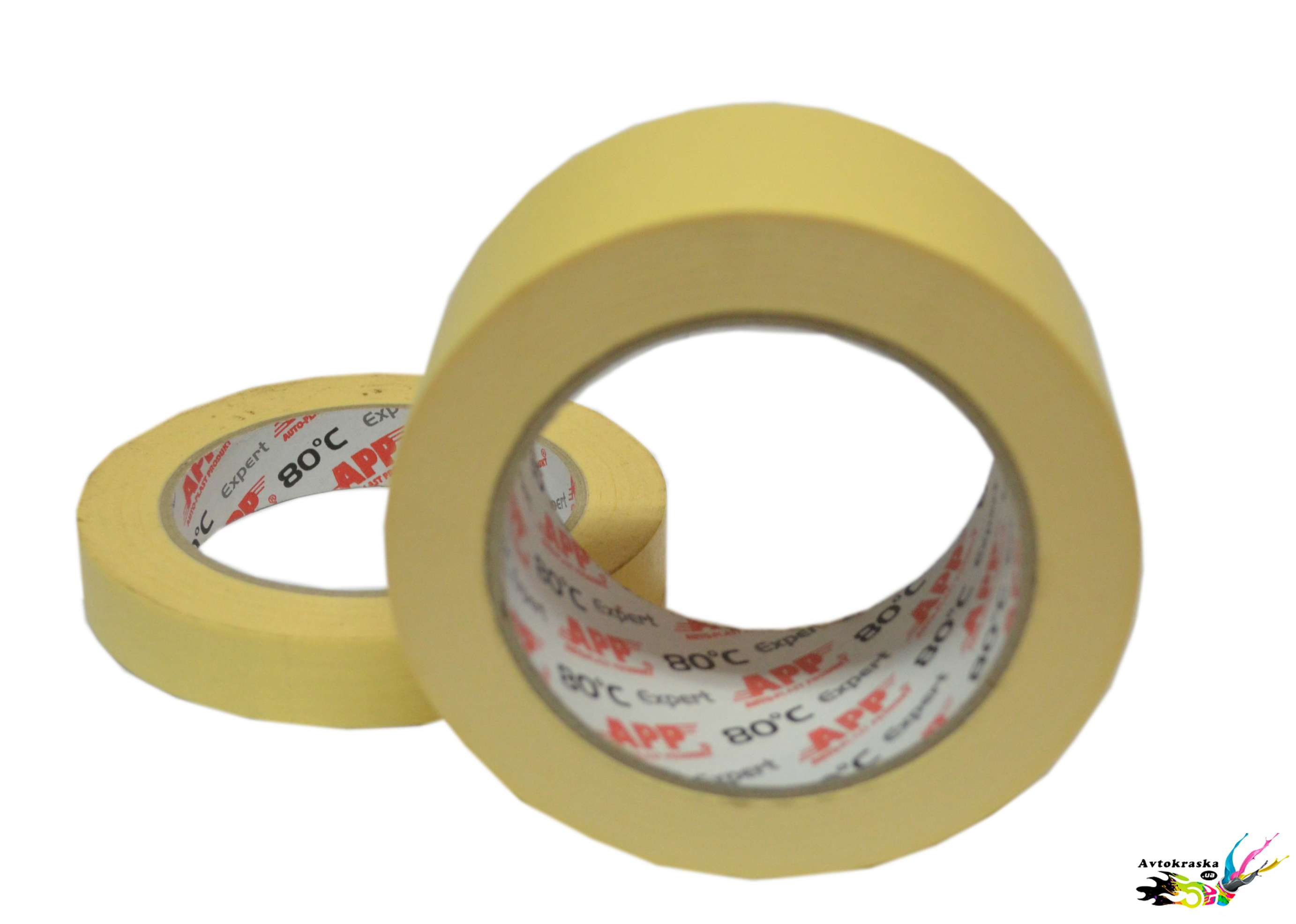 Малярный скотч APP 070202 желтый 24 мм x 50 м