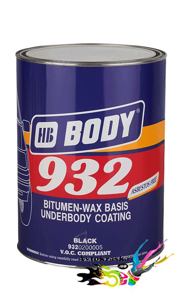 Body 932 Антикоррозийная мастика 4 кг