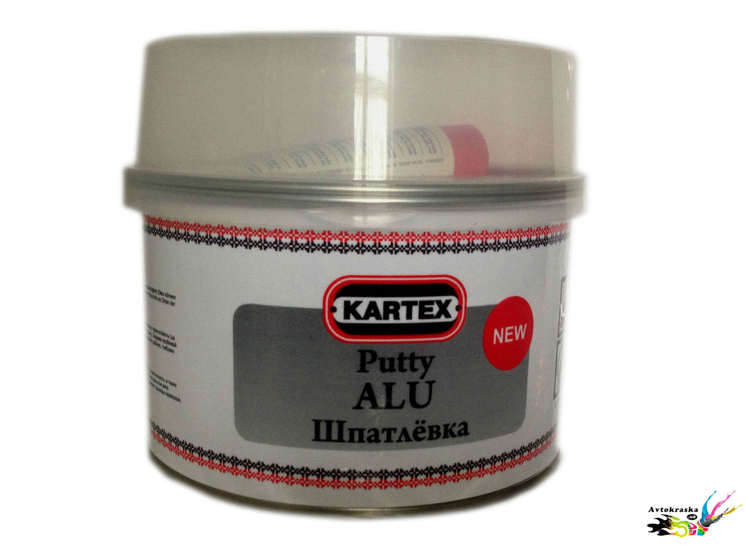 Шпатлевка с алюминием Kartex 11620 0,5 кг