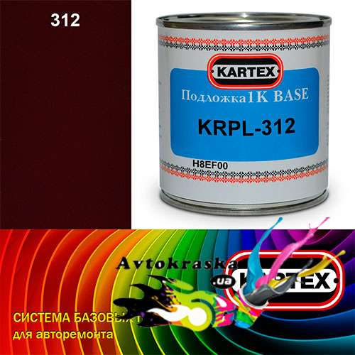 Kartex Базовая подложка для краски KRPL-312 темно-бордовая 0,25 л