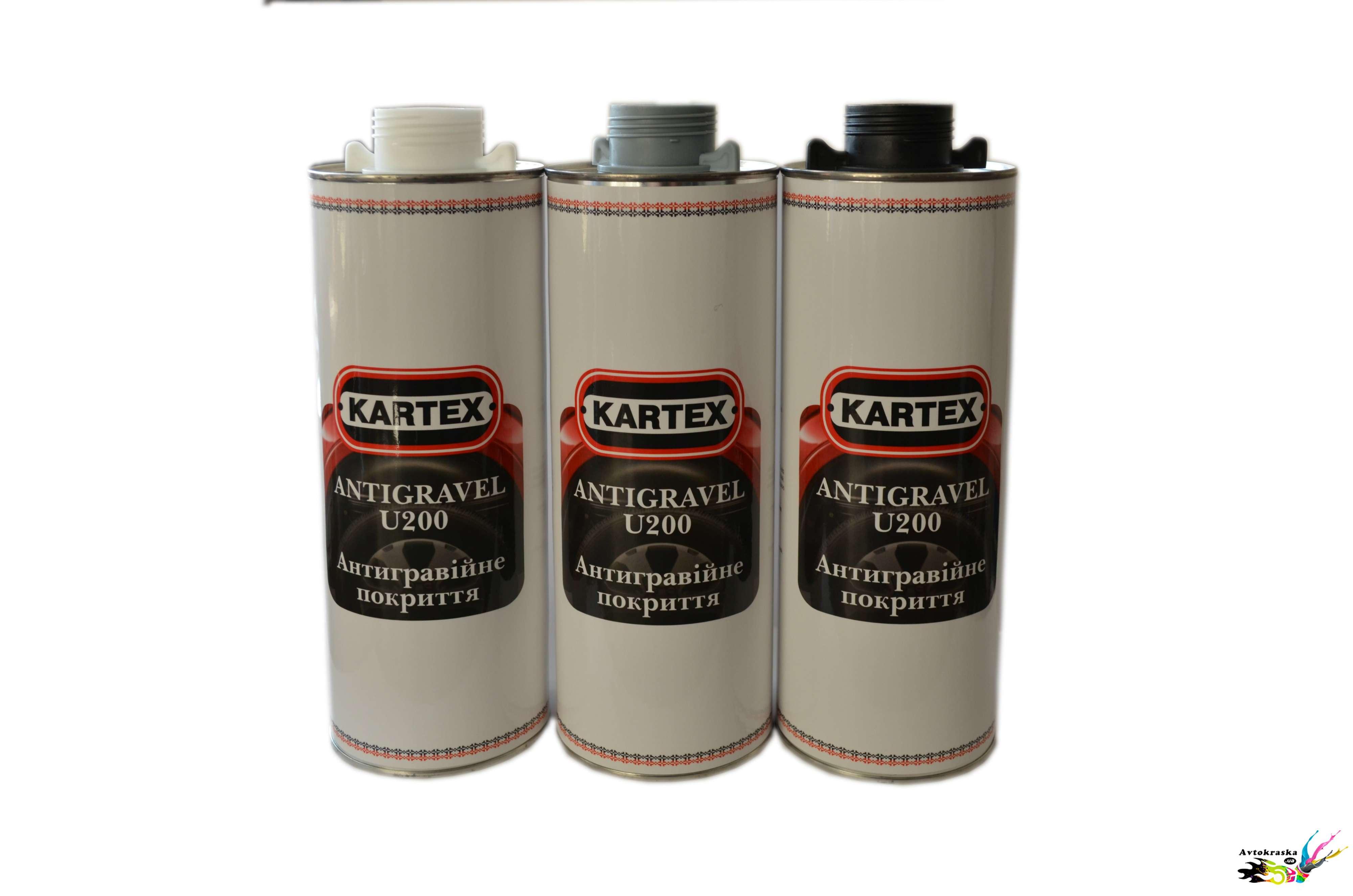 Антигравийное покрытие для авто Kartex U200 серый 1кг