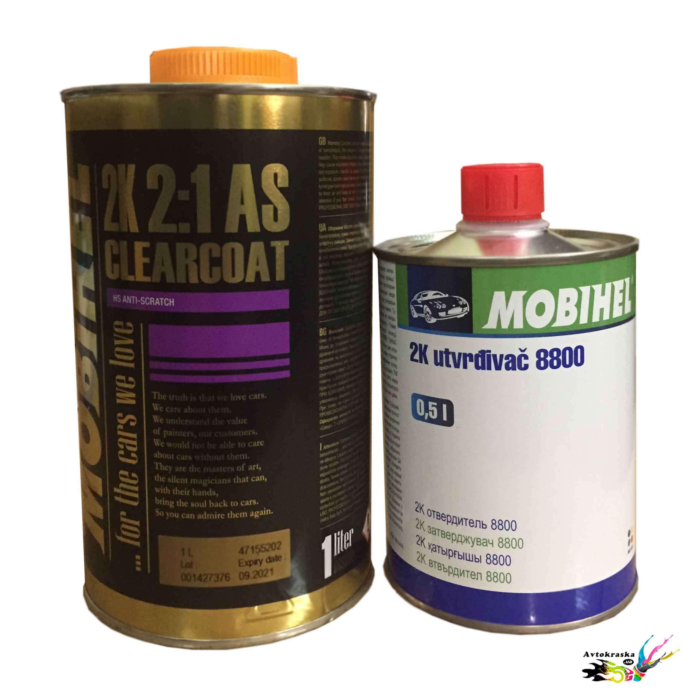 Акриловый лак Mobihel AS/HS  1л+0,5л