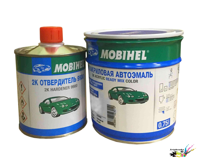 Mobihel Краска автомобильная Lada 2:1 420 Балтика 0,75л+0,375л