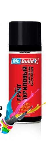 Грунт в баллончике Mr.Build акриловый Черный 400 мл