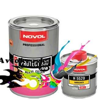 Грунт акриловый Novol 37311 Protect 330 серый 1л+0,2л