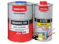 38071 Novol Лак бесцветный акриловый Novakryl 570 1л+0,5л