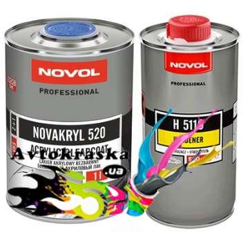 Novol 90031 Бесцветный акриловый лак Novakryl 520 VHS 1л+0,5л - 90031