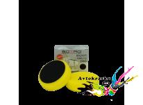 Круг полировальный гладкий Sotro на липучке D80/H25мм желтый универсальный