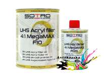 Грунт для авто SOTRO F10 2K UHS Acryl filler 4:1 Megamax 0,8 л+0,2 л
