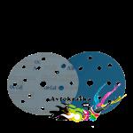 Круг шлифовальный SOTRO FILM Extrim на основе пленки 15 отв D150 голубой P1000
