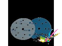 Шлифовальный круг SOTRO FILM Extrim на основе пленки 15 отв D150 голубой P2500