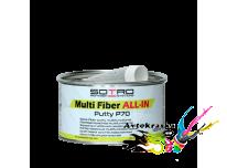 Шпатлевка со стекловолокном мультифункциональная SOTRO P70 Multi Fiber Putty ALL IN 1000 мл