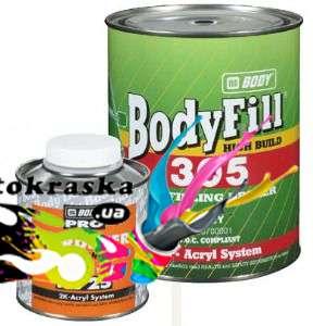 Грунт-наполнитель Body 305 акриловый 4+1 серый 1л - 3050700001